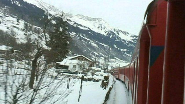 Train to Davos