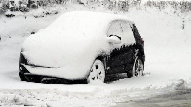 Car in west Wales country lane