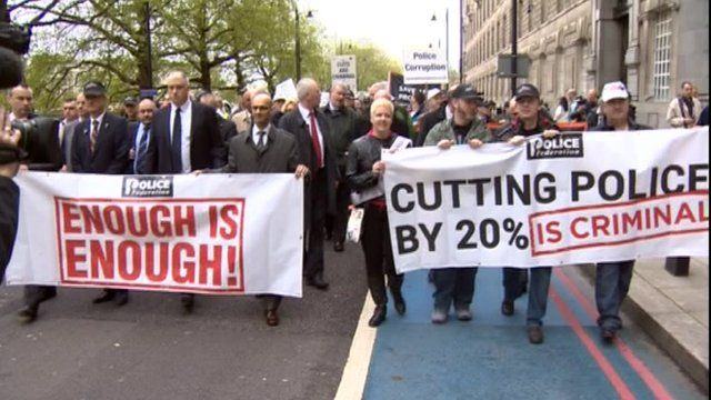 Protesting police staff