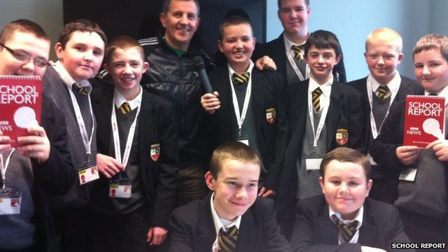 Students from De La Salle at BBC Radio Merseyside