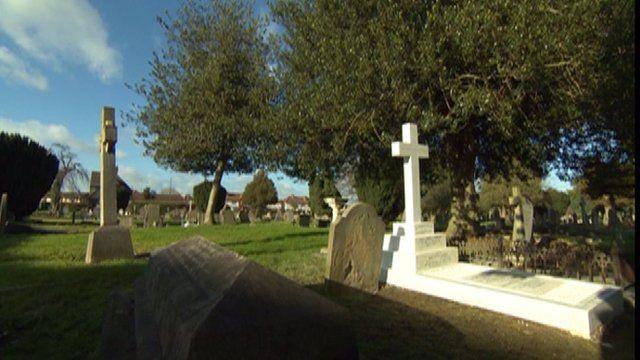 The renovated grave of General Birdwood