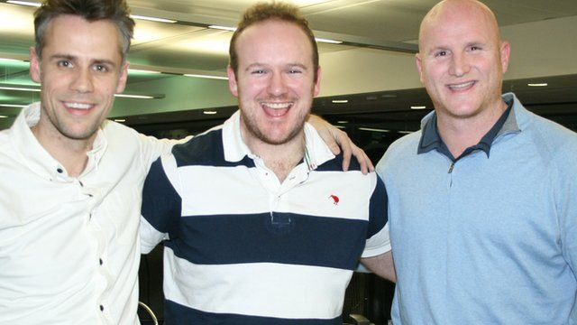Richard Bacon, Ben Pilling and John Hartson