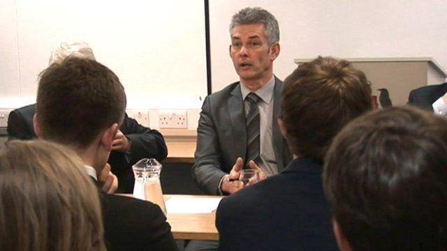 Education Minister Tim Crookall MHK