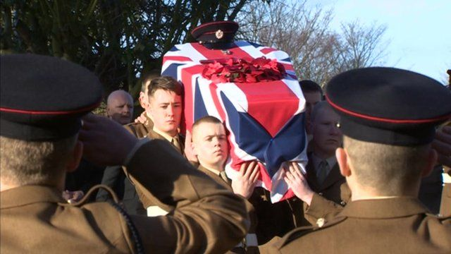 Sapper Richard Walker funeral