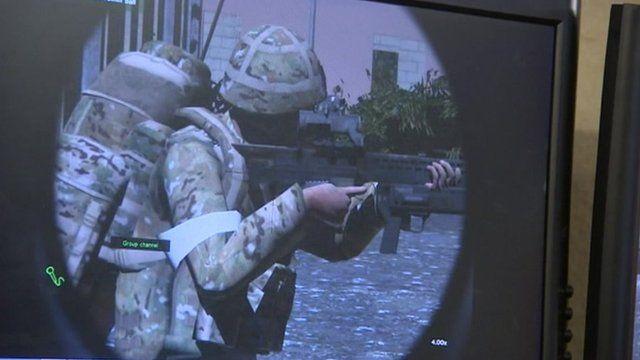 British Army computer simulation exercise