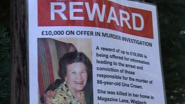 Una Crown investigation reward poster