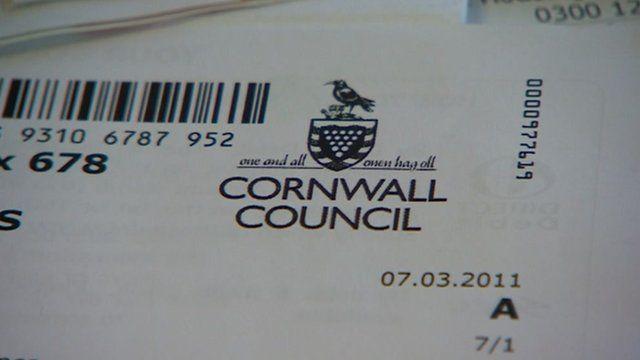 Cornwall Council paperwork