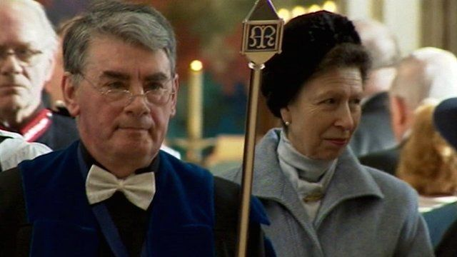 Princess Anne in Chelmsford Cathedral