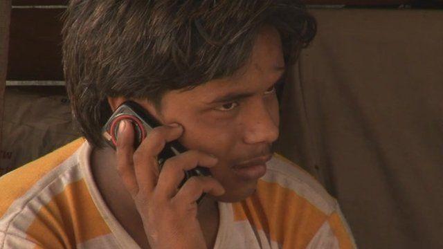 Indian phone user
