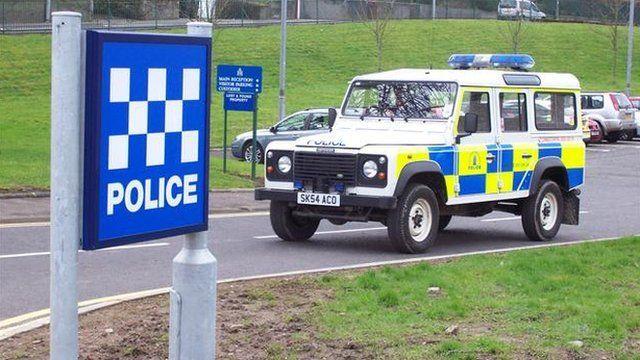 Borders police car