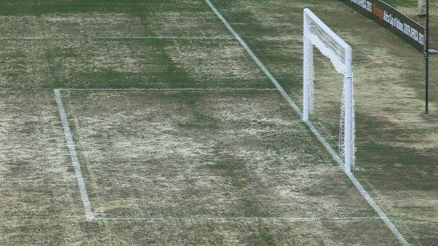 Pitch at Nelspruit's Mbombela Stadium