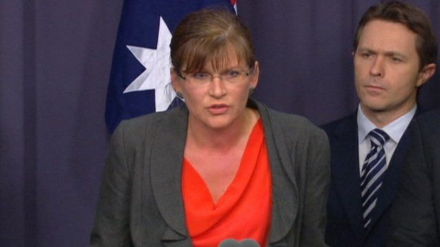 Sports minister Kate Lundy, and Home Affairs Minister Jason Clare (right)