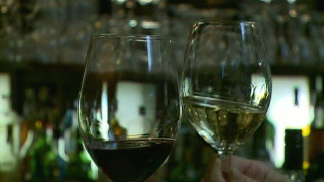 Wine glasses touching