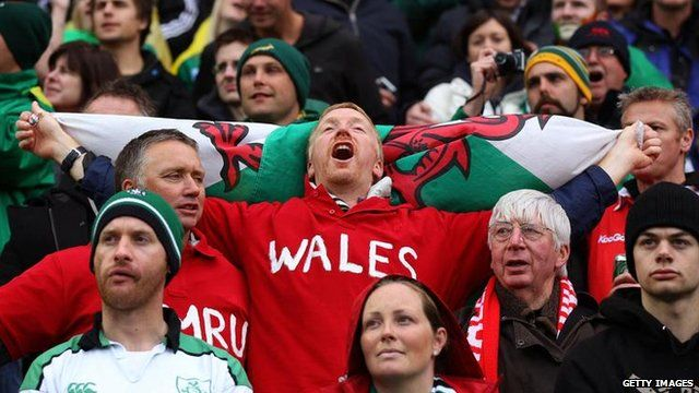 Wales fans at the 2011 Rugby World Cup in New Zealand
