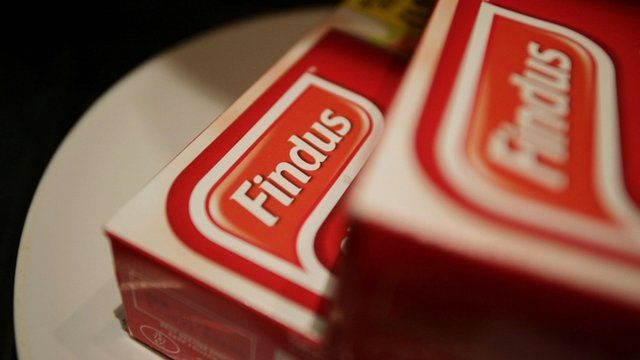 Two packets of Findus frozen food