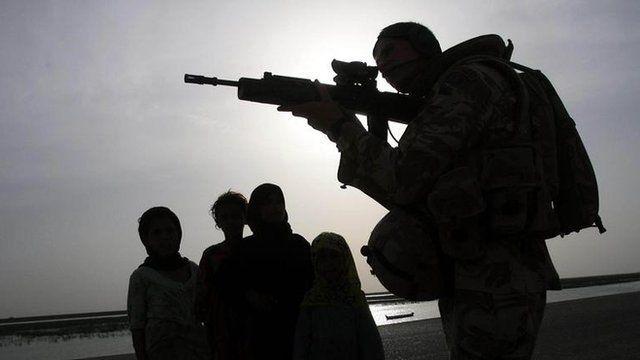 British soldier on patrol