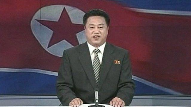 North Korean newsreader