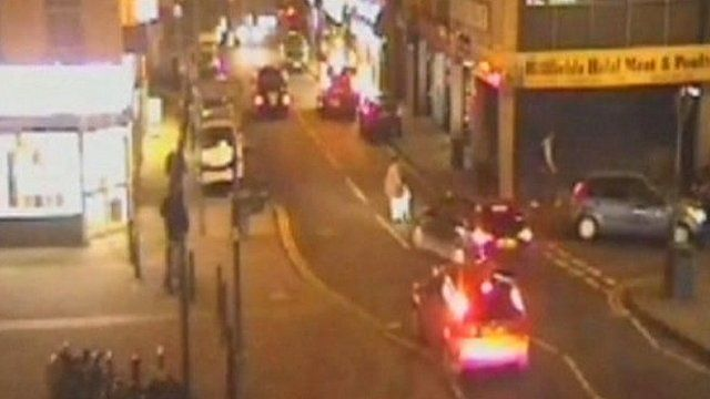 CCTV image of moment before collision