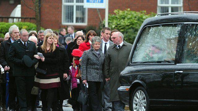 Philippa Reynolds' funeral