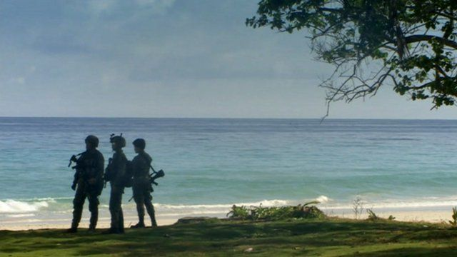 Soldiers on the islands of Sulu