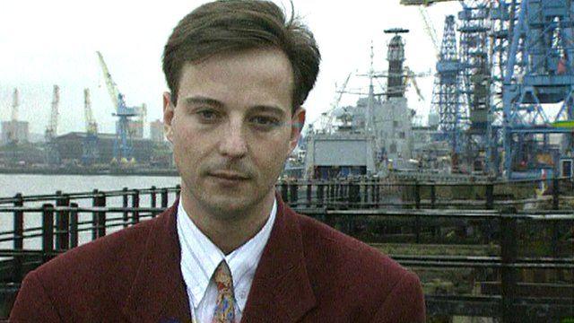 Chris Jackson at Swan Hunter in 1993