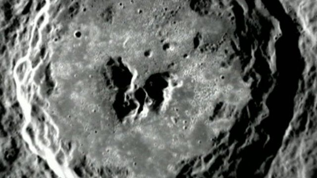 Pockmarked hollow on Mercury's surface