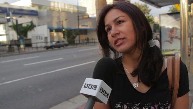 A resident of Caracas on Chavez's return