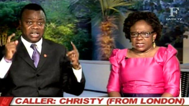 Footage from Miracle Hour broadcast by UKWET on Faith World TV