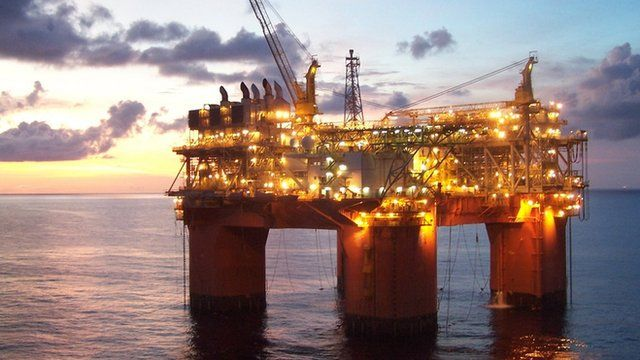 BHP Billiton Atlantis gas and oil rig