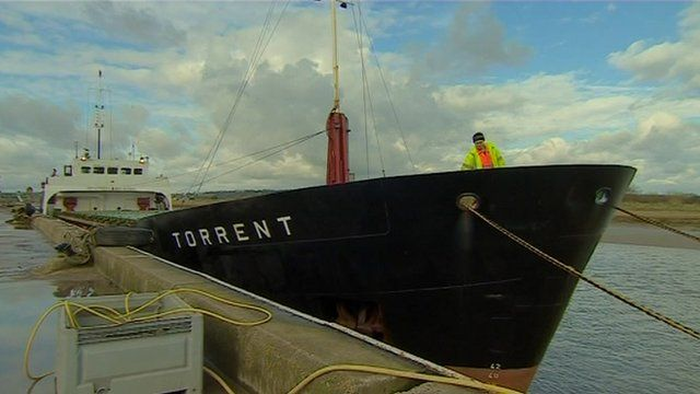 The Torrent cargo ship at port