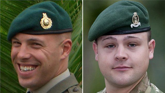 Sgt Luke Taylor (left) and L/Cpl Michael Foley