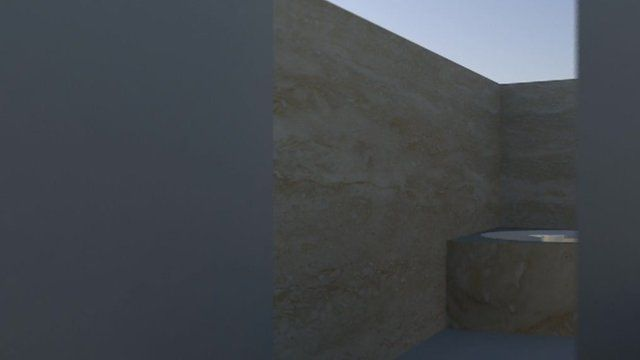 3D impression of inside Oscar Pistorius' bathroom