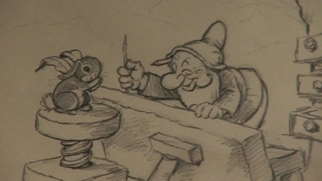 Original drawing from Walt Disney's Snow White