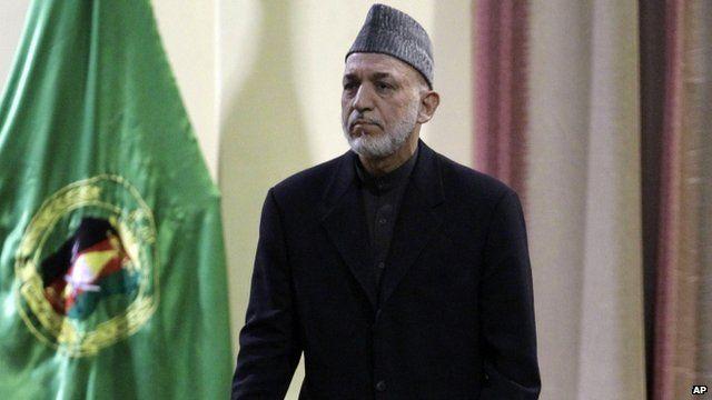 Afghan President, Hamid Karzai,
