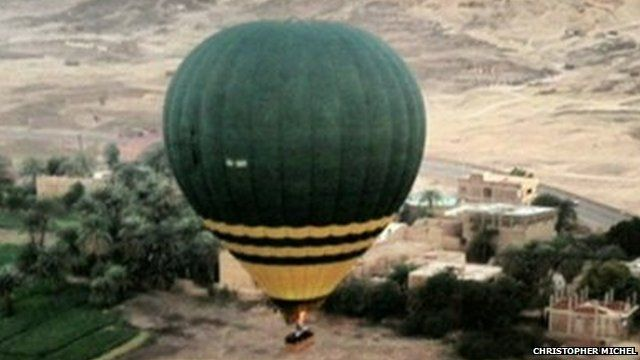 Balloons in flight before crash