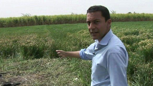 Aleem Maqbool at the crash site