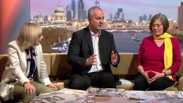 Jude Kelly, Iain Dale, Clare Short on The Andrew Marr Show