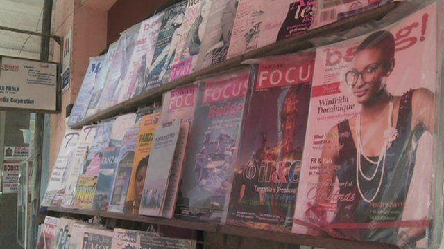 Bang magazine on a shelf in Zambia