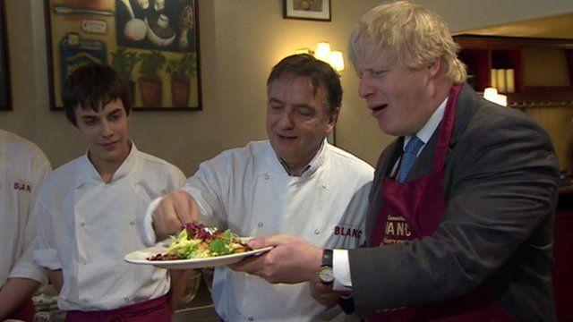 Raymond Blanc cooking with Boris Johnson