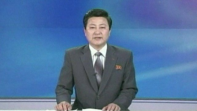 Newsreader on North Korean State TV