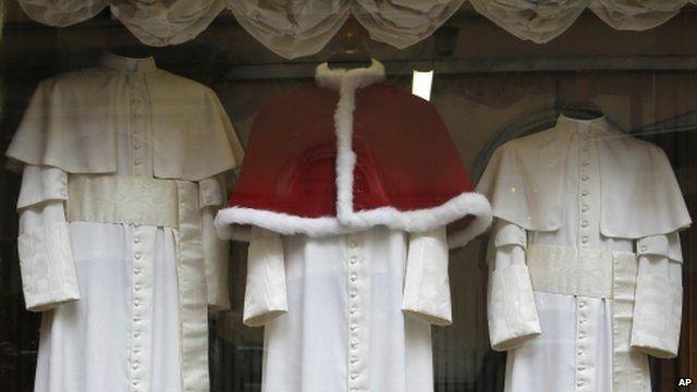 Robes in shop window