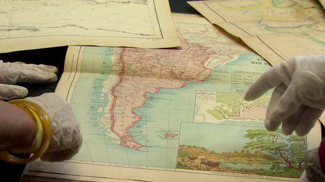 Maps showing Falkland Islands