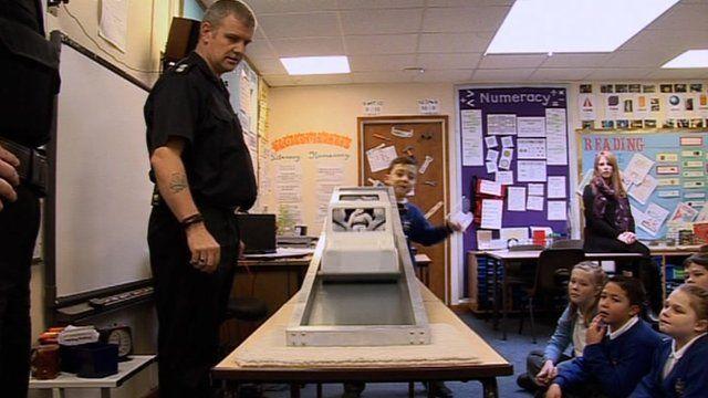 Seatbelt campaign in school