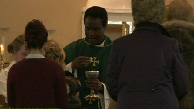 Priest from Africa in Ireland