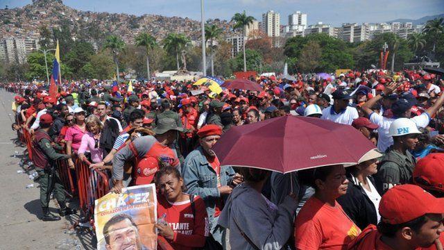 Crowds in Caracas