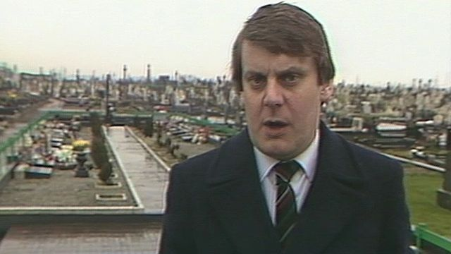 Denis Murray reporting on paramilitary funerals in 1988