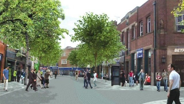 Artist's impression of Wolverhampton city centre