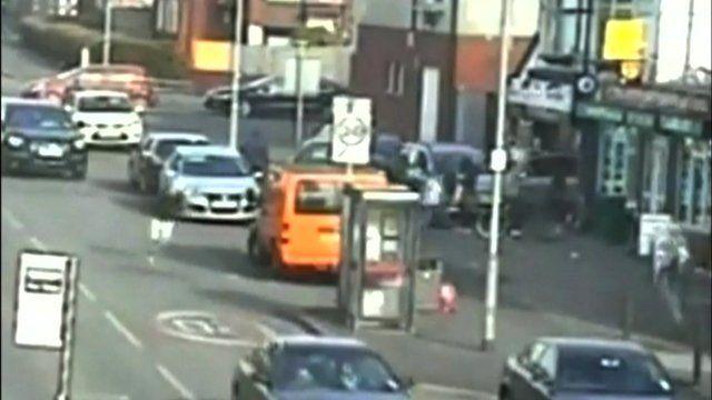 CCTV of attack