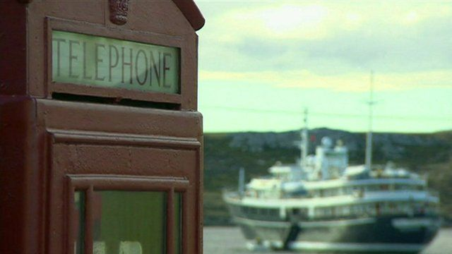 Ship and telephone box