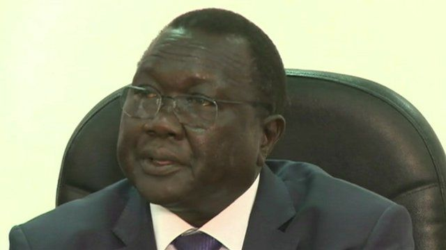 South Sudan's Irrigation and Water Minister Paul Mayoum